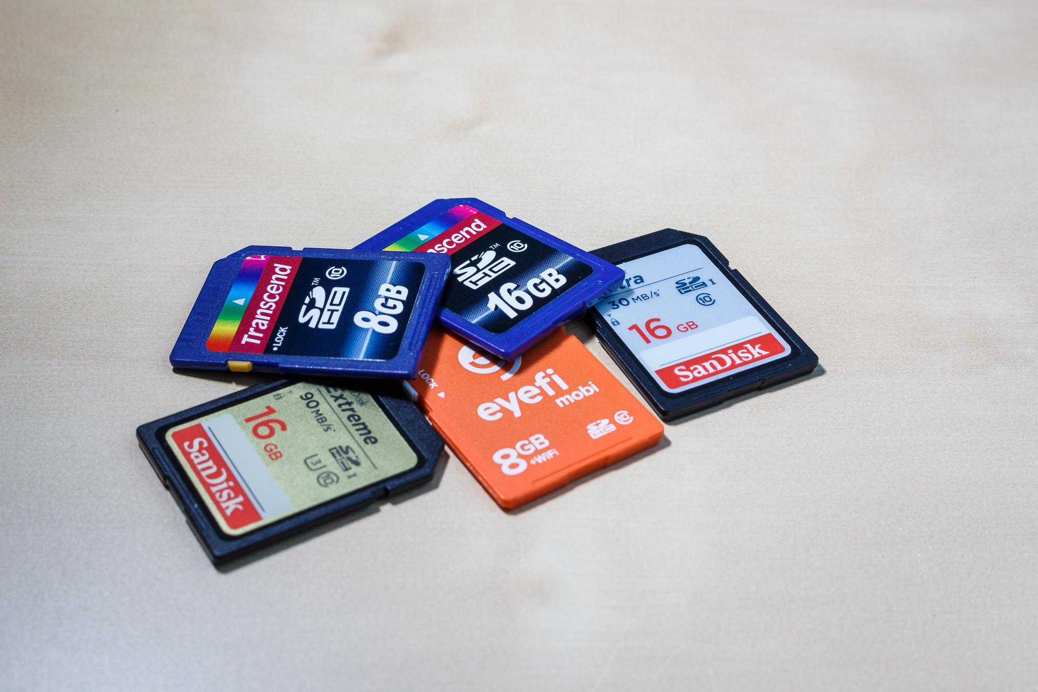 Speicherkarten sind zur langfristigen Sicherung nicht zu empfehlen