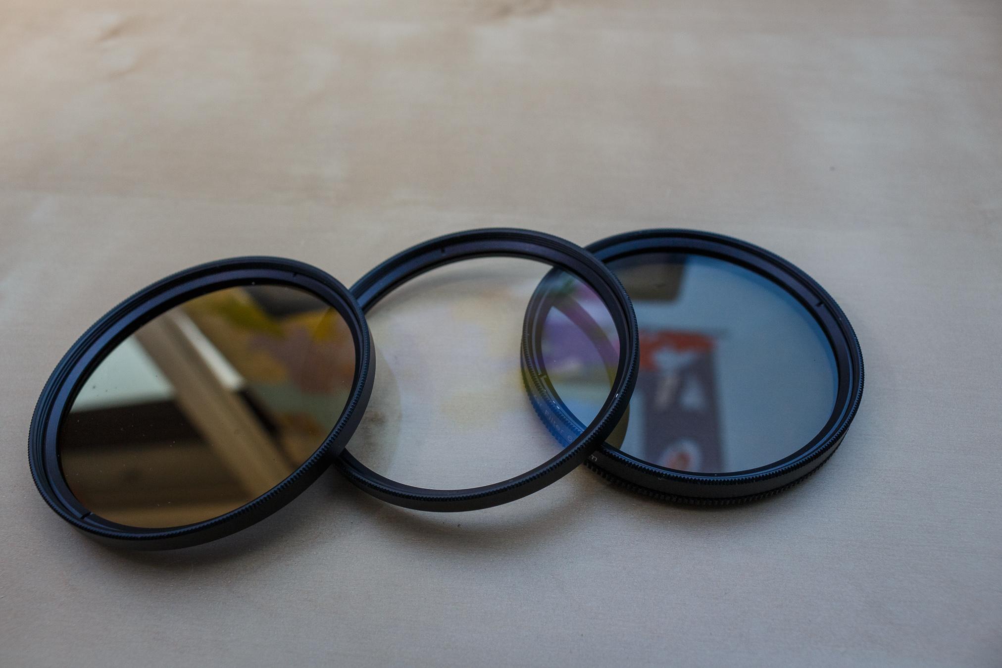 Der UV-Filter ist hier in der Mitte, er hat keinen großen Einfluss auf das Bild