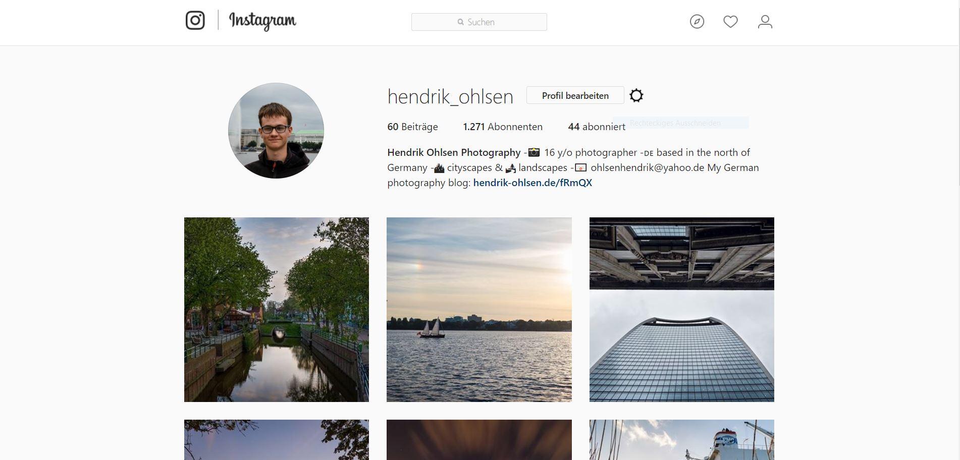 Instagram eignet sich hervorragend zum Verbreiten von Bildern
