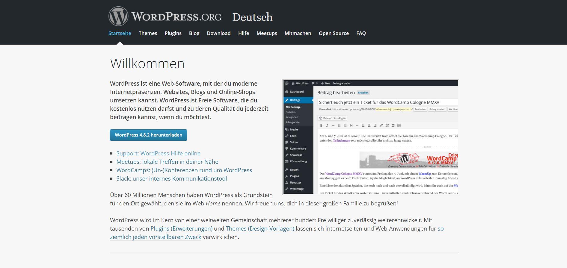 Mit WordPress ist es aber auch nicht viel schwerer