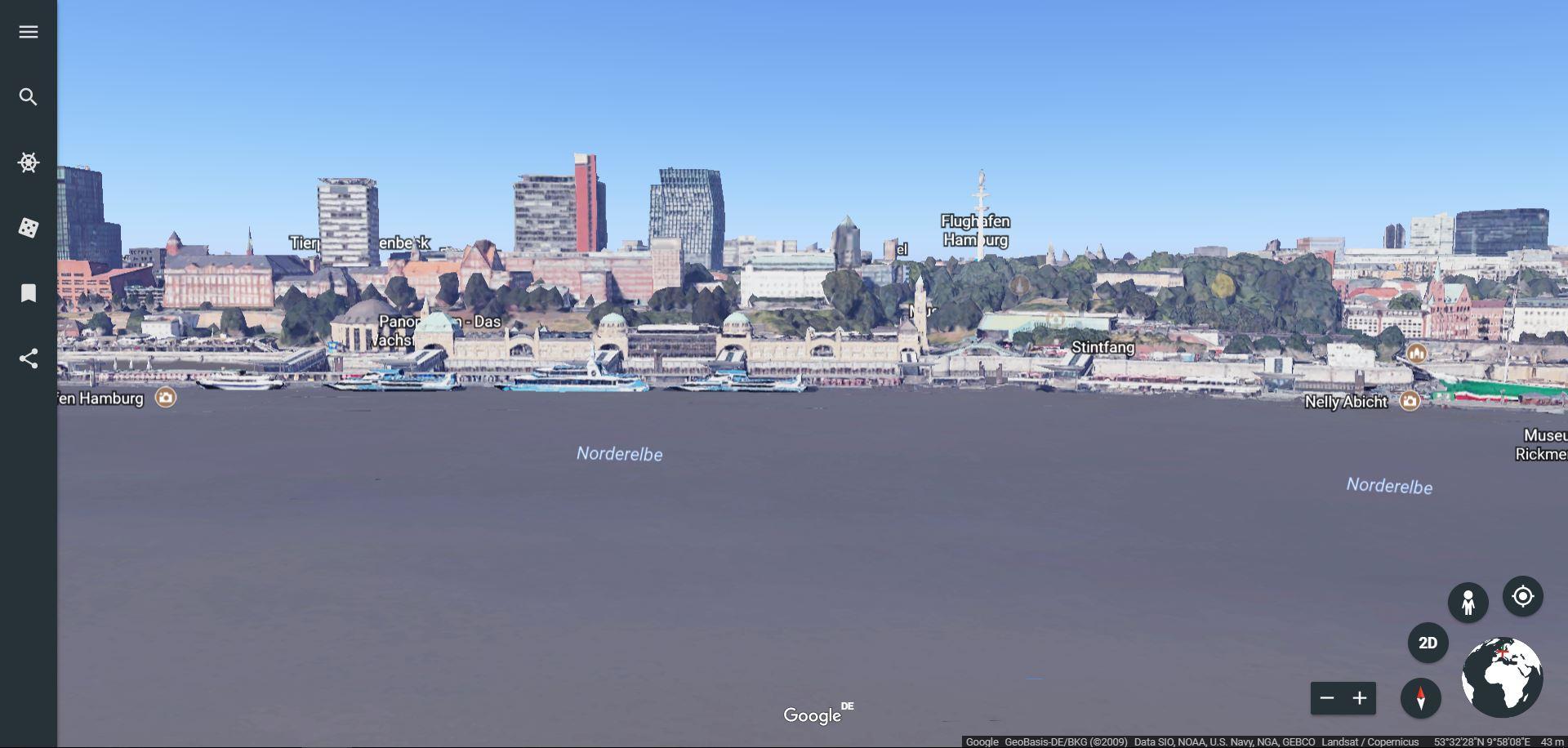 GoogleEarth bietet andere Funktionen als GoogleMaps und lässt sich gut zum Vorbereiten von Sessions nutzen