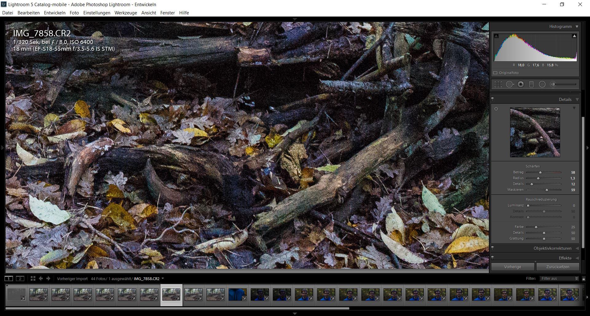 In jedem Bildbearbeitungsprogramm lässt sich das Rauschen entfernen