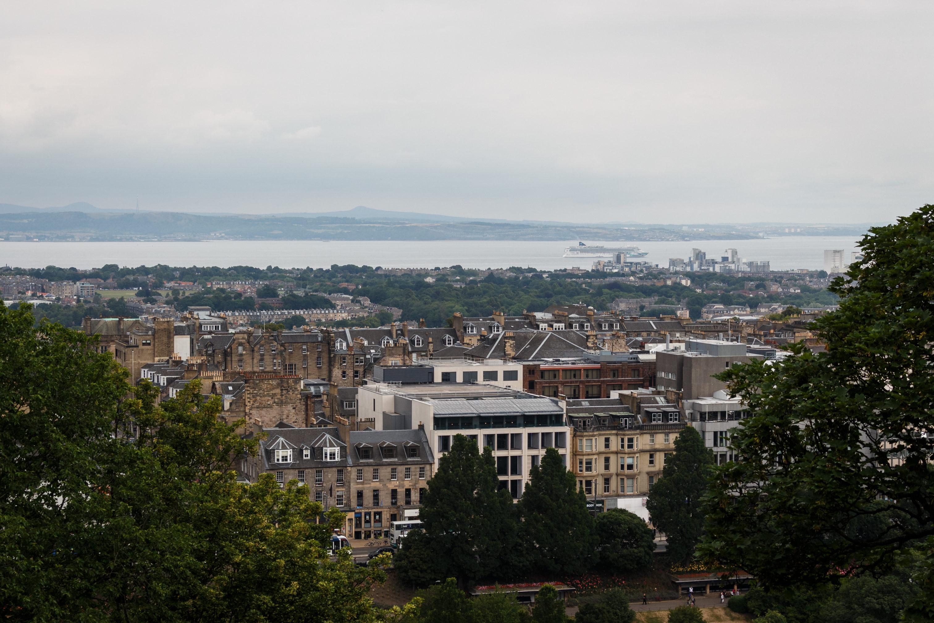 Der Blick vom Castel in Richtung Firth of Forth