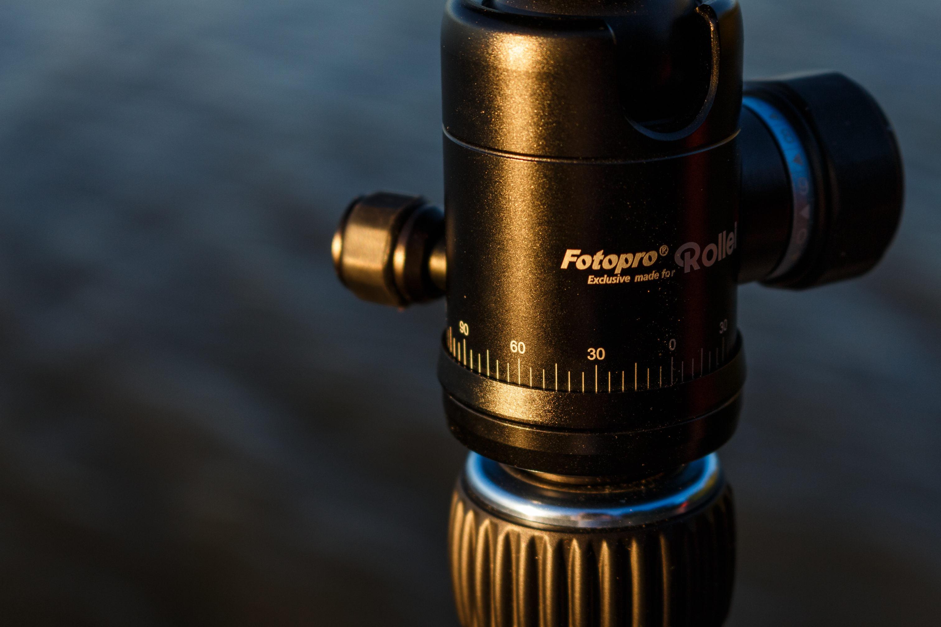 Das Rollei C5i hat eine Skala, die beim Erstellen von Panoramen hilfreich ist